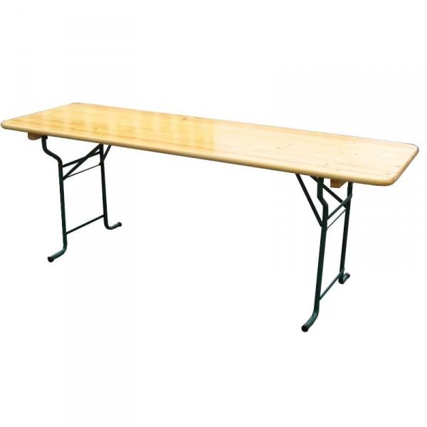Table rectangulaire bois 220 80cm pour vos noces et - Table de jardin new york toulon ...