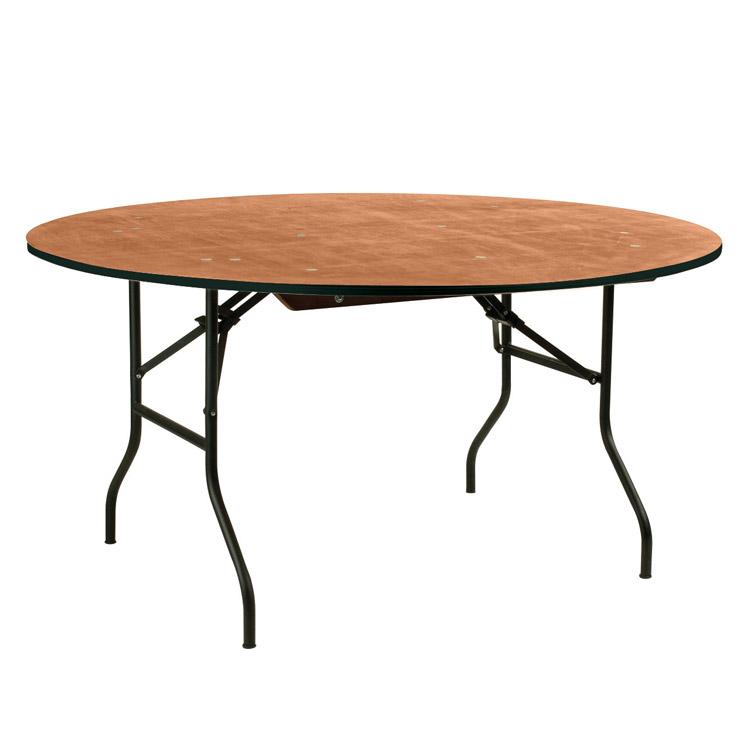Table ronde bois 150cm pour vos noces et brunchs location - Taille table ronde 8 personnes mariage ...