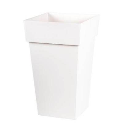 Pot de fleurs/plantes carré blanc DESIGN H65cm