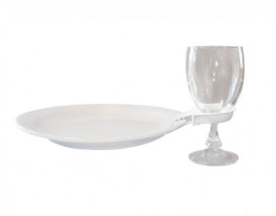 location clip assiette en verre pour repas de famille a aups 83630 var Paca